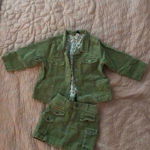 Baby Gap velvet skirt/jacket